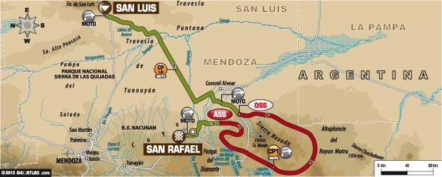 Общая длина маршрута – 9 400
